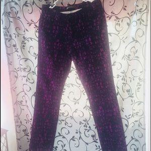 Levis midrise skinney purple black jeans 30x32